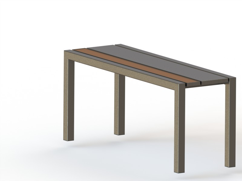 Banc contemporain | RDMETAL - Bureau technique, construction métallique